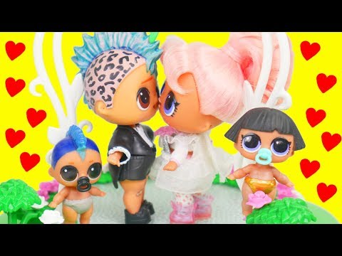 Punk Boi Family LOL Surprise Wedding with Lils Fuzzy Pets | Toy Egg Videos