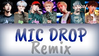 BTS - MIC Drop (Steve Aoki Remix) (Feat. Desiigner) | Han, Rom, Eng [COLOR CODED LYRICS] MP3
