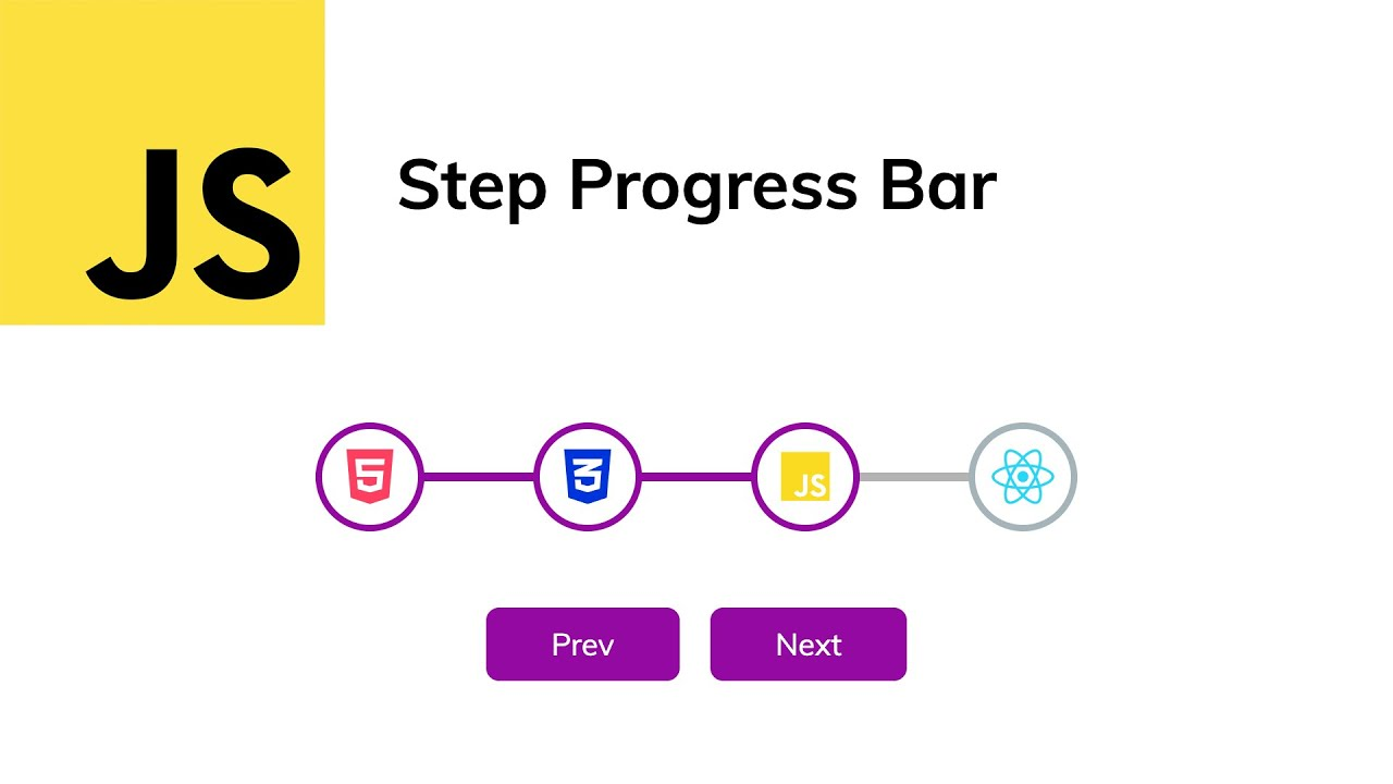 Build a Step Progress Bar | JavaScript