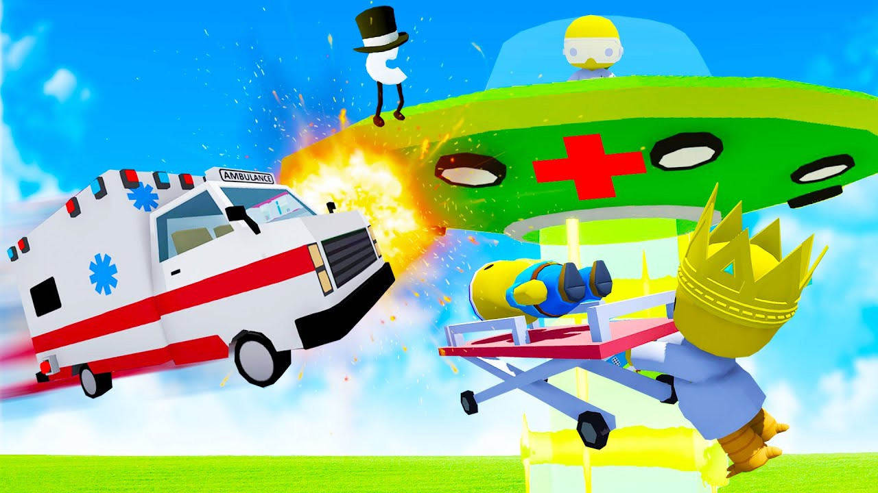 We Built a UFO Ambulance and Everything Went Wrong in Wobbly Life Multiplayer Update!