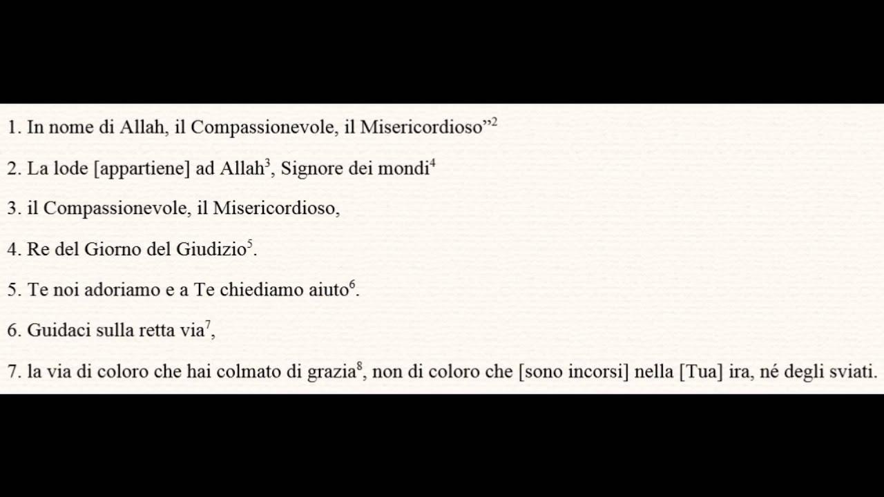 Corano in italiano (Audio in italiano) Capitolo 1 Al