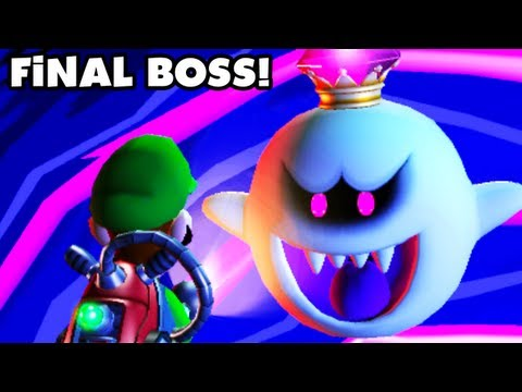 Luigi's Mansion Dark Moon - King Boo Final Boss Fight and Ending! (Nintendo 3DS Walkthrough)
