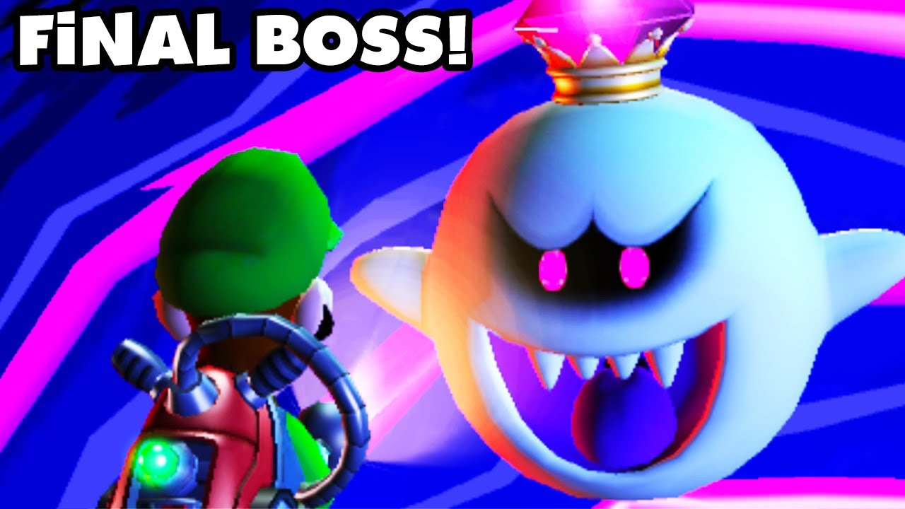 Luigi S Mansion Dark Moon King Boo Final Boss Fight And Ending Nintendo 3ds Walkthrough