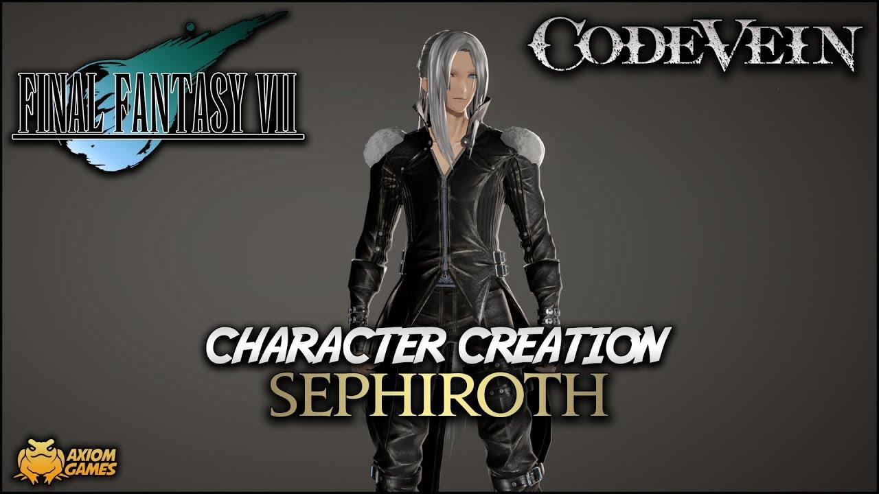 Code Vein Sephiroth Character Creation Final Fantasy Vii