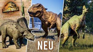 ÜBER 10 NEUE DINOSAURIER! ALLE NEUEN SPEZIES aus dem Dev Diary 1! - Jurassic World Evolution 2