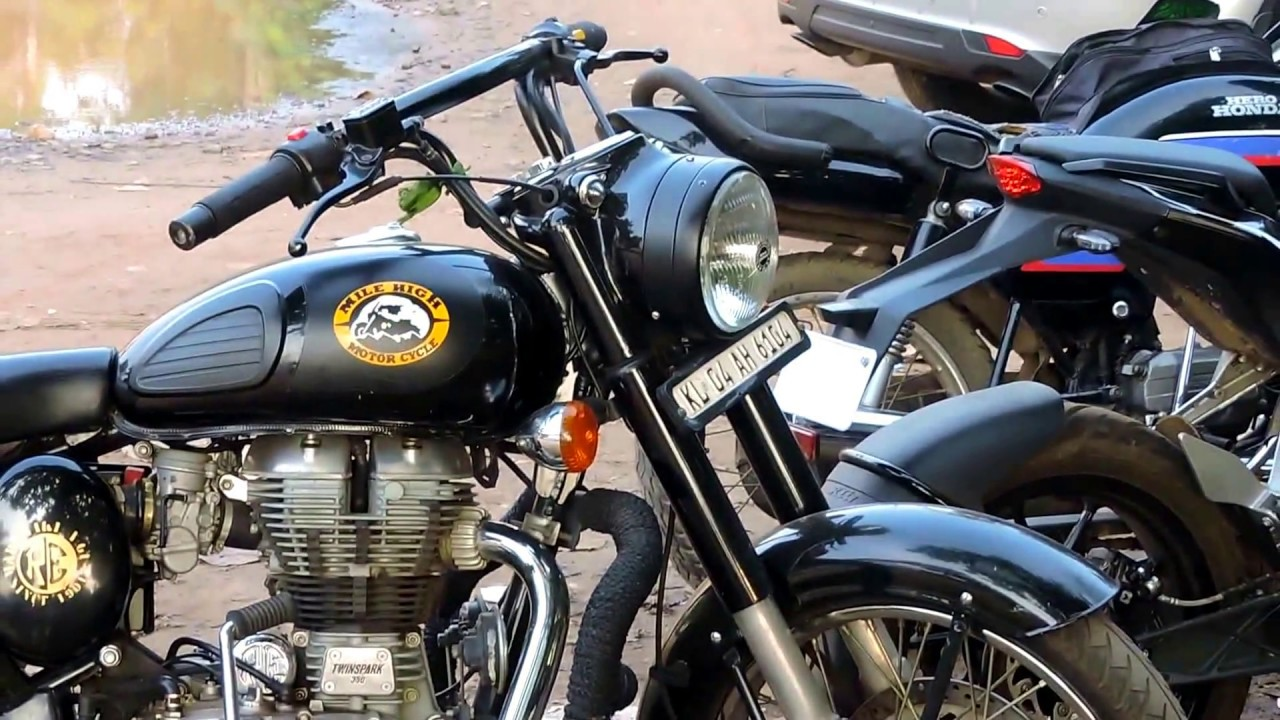 Royal Enfield Classic Sticker And Handle Changed YouTube - Classic motorcycle custom stickers