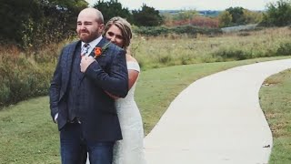 Tiffany + Logan - Groom Cries When He Sees His Beautiful Bride for the First Look