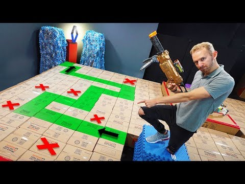 NERF Dont Fall In The Box Challenge!