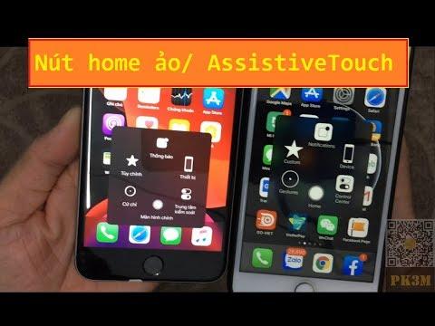 Cách bật nút home ảo/ AssistiveTouch iphone ios 13