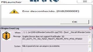 Erro [0X820000027] Point blank #Resolvido