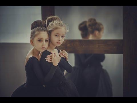 Слайд шоу из фотографий, балерины. Детская фотосессия