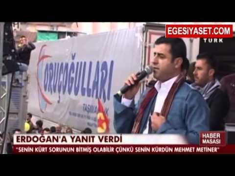 Demirtaş'tan Erdoğan'a Gönderme: 'Senin kürdün Mehmet Metiner..Tepe tepe kullan'
