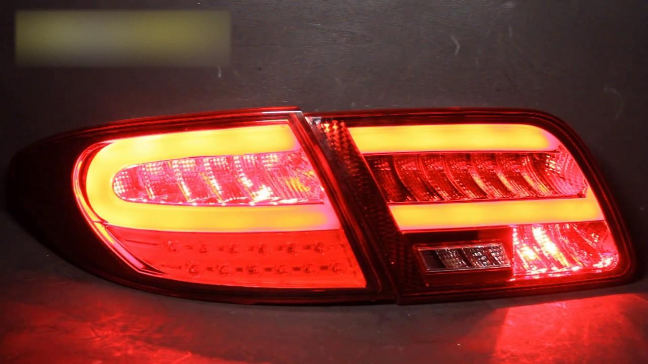 Задние тюнинг фонари Mazda 6 '02-08 светодиодные, красные/прозрачные