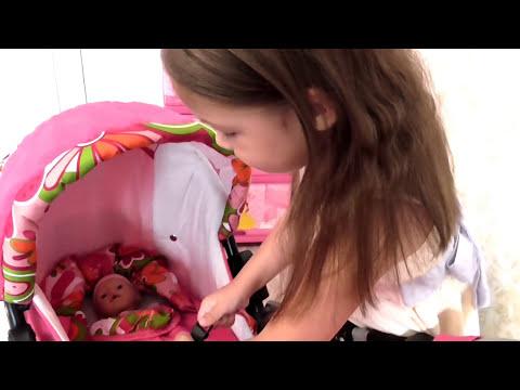 ❀ КОЛЯСКА ДЛЯ КУКОЛ Adbor mini ❀ Stroller for dolls Adbor mini ❀ ВИДЕО ДЛЯ ДЕВОЧЕК