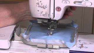 How to Stitch a Built-in Machine Embroidery Design on a Brother NV950