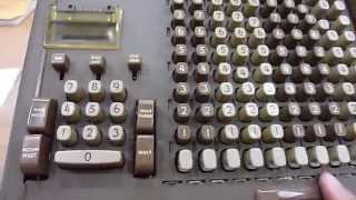 1956 Friden STW 10 Mechanical Calculator Demo