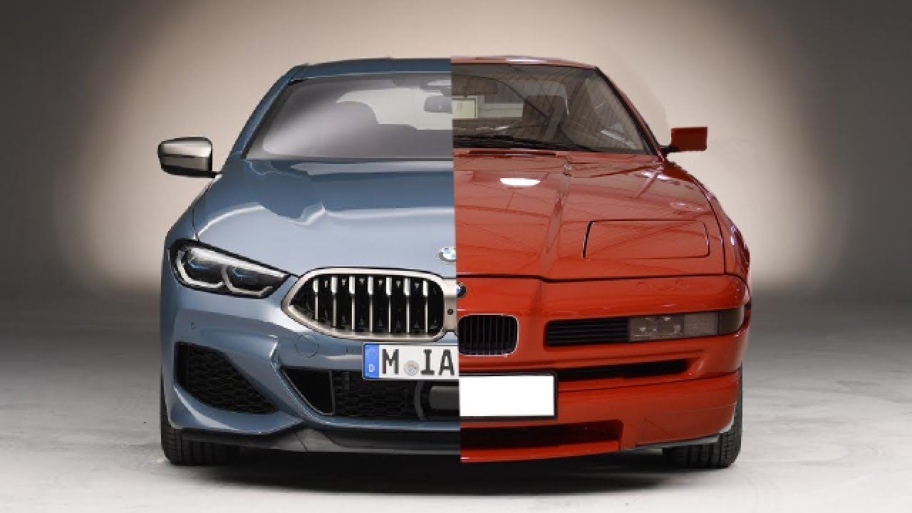 new 2019 bmw 8 series coupe g16 vs old 1999 bmw 8 series coupe e31 youtube. Black Bedroom Furniture Sets. Home Design Ideas