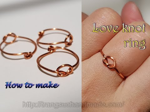 Love knot ring - Unisex Celtic jewelry from copper wire 414