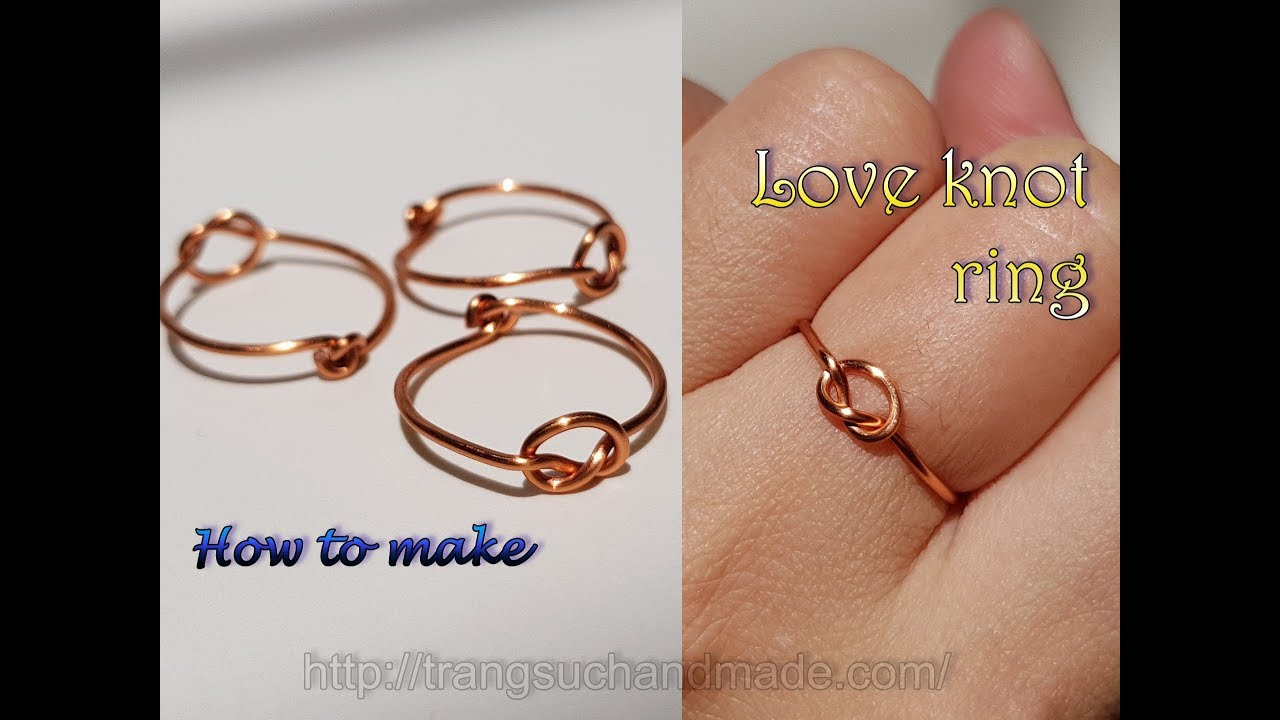 Love knot ring unisex celtic jewelry from copper wire 414 youtube love knot ring unisex celtic jewelry from copper wire 414 greentooth Gallery