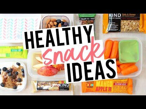HEALTHY, ON-THE-GO SNACKS! Easy Ideas For Work + School!