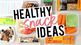 HEALTHY, ON-THE-GO SNACKS! Easy Ideas for Work + School!