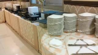 Banquet catering buffet setup in kuwait