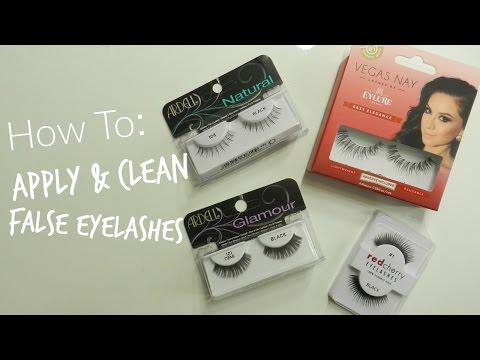How To Apply & Clean False Eyelashes | Kaitlyn Jones
