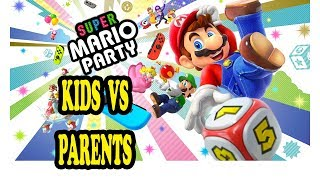 Let;s Play Mario Party on the Nintendo Switch with the family! Who wins? Kids vs Parents! Teamcc