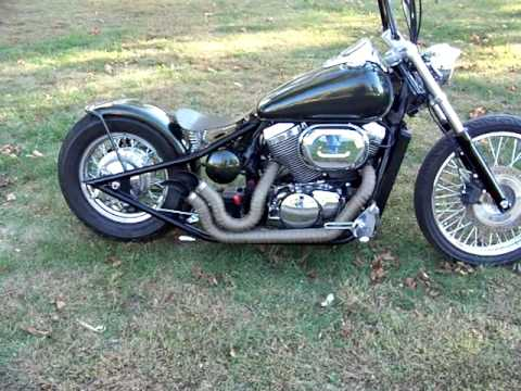 Custom Honda Shadow Chopper Bobber Youtube