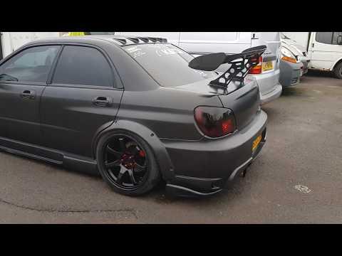 Bagged Matte Black Subaru