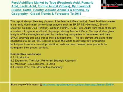 Global Feed Acidifiers Market Forecast to 2018