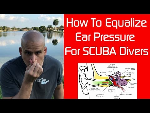 How to Equalize Ear Pressure using the Valsalva Maneuver while SCUBA diving