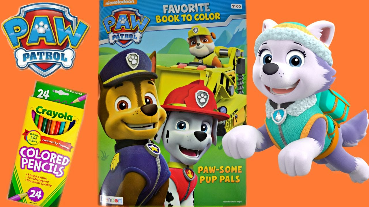 paw patrol coloring pages paw patrol coloring book new pup everest