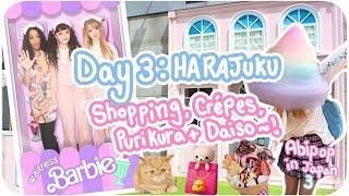 GIANT RAINBOW COTTON CANDY!?♪ | Day 3 - Harajuku, Daiso & Purikura! | Abipop in Japan 3 - 2017 ♡