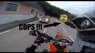 POLICE ESCAPE ON A DAILY RIDE [KTM 690 SMC R/ENDURO R]