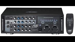 Karaoke amplfier, Audio2000 akj7003 AKJ 7003 mixing amp, karaoke mixer karaoke amp