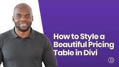 How to Style a Beautiful Pricing Table in Divi