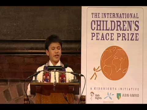Kesz' Speech at 2012 International Children's Peace Prize.wmv