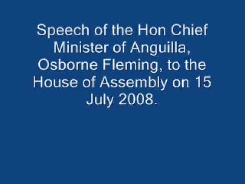 Anguilla's Chief Minister Speaks - Part 1