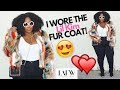 I WORE THE LIL KIM FUR COAT! LA FASHION WEEK! BISHME R. CROMARTIE | VLOG