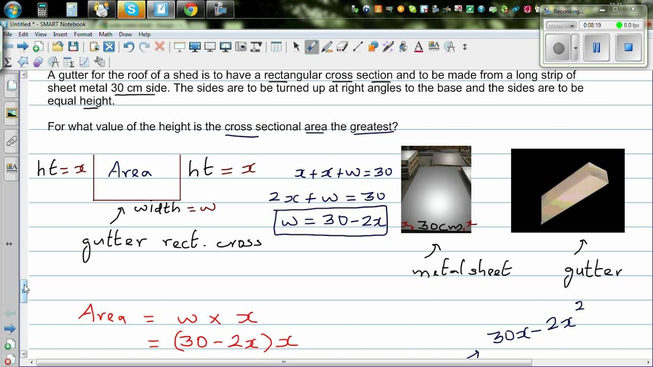 Great formula for area of a wire pictures inspiration wiring application of quadratic equation to find maximum cross sectional greentooth Image collections