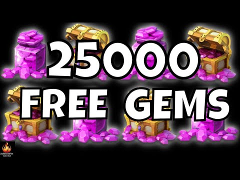 25000 FREE GEMS Castle Clash Homecoming Event