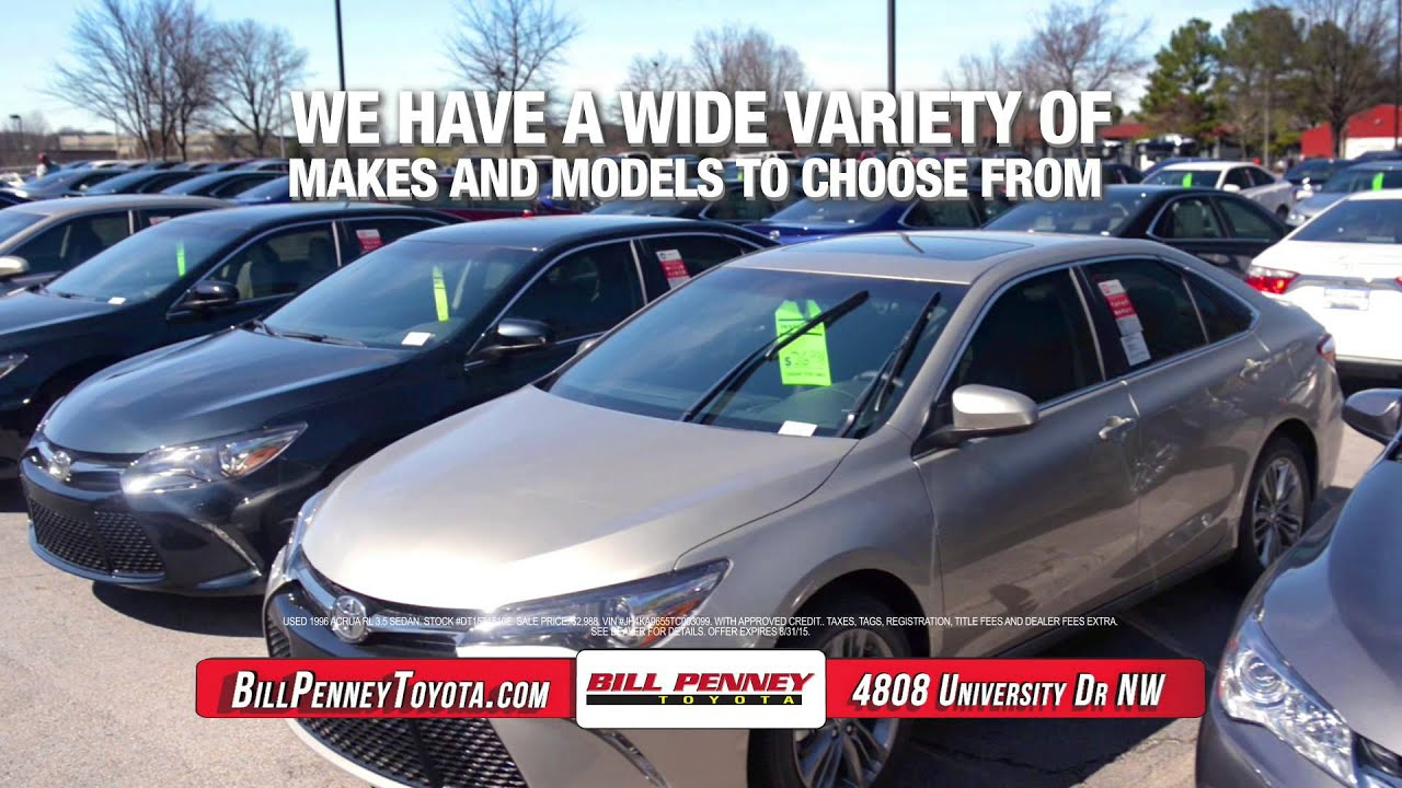 Used Car Dealerships Huntsville Al >> Used Cars For Sale Huntsville Al Bill Penney Toyota