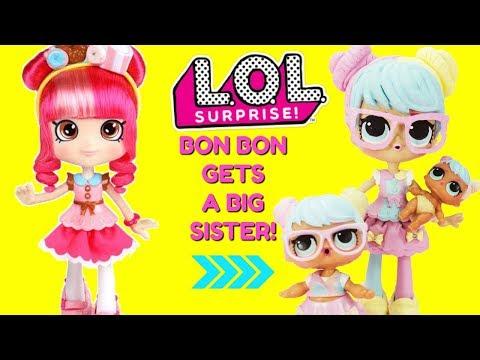 LOL Surprise Bon Bon Gets A Big Sister DIY Shopkins Shoppie Doll Donatina Custom Makeover