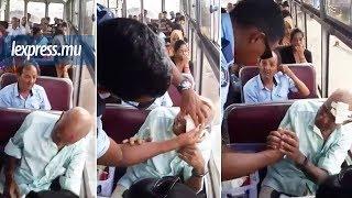 Facebook: un policier vient en aide à un homme âgé et blessé dans un autobus