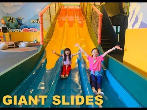 Giant Slides Indoor Playground