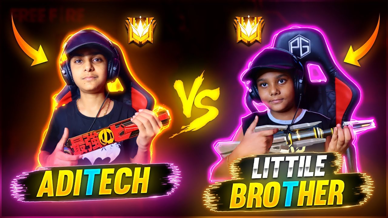 Me Vs My Little Brother 1vs1 On Mobile 😂🔥 - Ultra Funny - Garena Free Fire