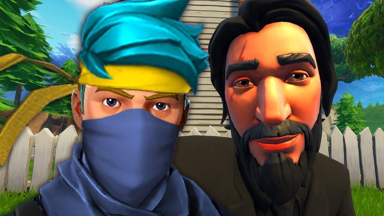 ninja vs john wick a fortnite short film - fortnite john wick