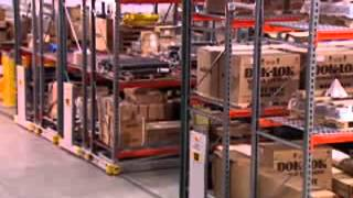 Rolling Compact Pallet Racks on Tracks | Condense Warehouse Storage Space Thumbnail