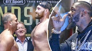 Deontay Wilder CRASHES Tyson Fury WEIGH IN!! Dad & Crowd GO CRAZY!!!